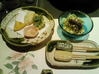 u・季節の揚物・生麩田楽・豆腐サラダ.jpg